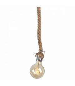 Lampe Corde + Ampoule LED Globe Edison Filament H17.5cm