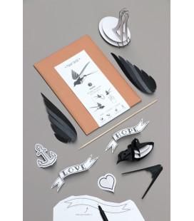 Kit Hirondelle Noire et Blanche DIY