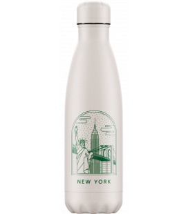 "Bouteille Isotherme 500ml Acier ""City Break New York"" Chilly's"