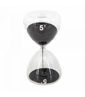 Serax Sablier Sable Noir 5 Minutes