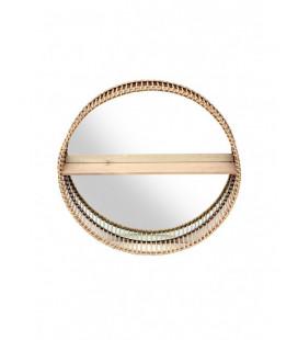 Miroir Etagère Mahé 61cm