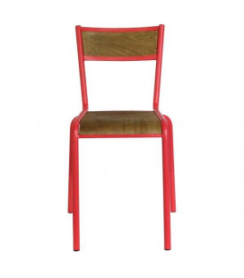 Lot de 2 Chaises Pilot Rouge Mat