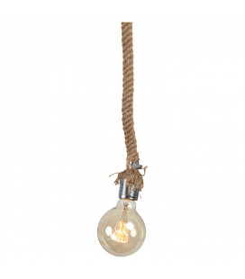 Lampe Corde + Ampoule Globe Edison Filament H14cm