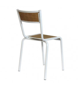 Lot de 2 Chaises Pilot Blanc Mat