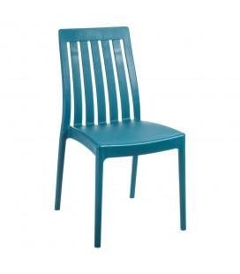 Chaises X4 Moderne Empilables Bleu