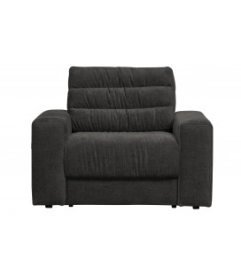 Fauteuil Date Velours Anthracite