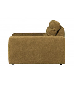 Fauteuil Large Date Velours Gold