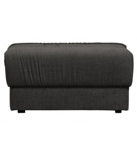 Pouf Date Velours Anthracite