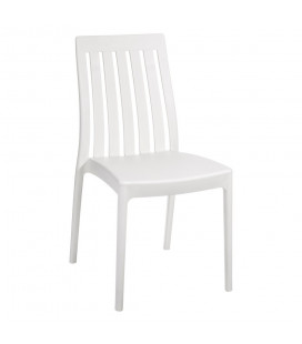 Chaises X4 Moderne Empilables Blanc