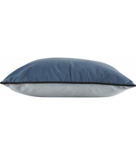 Coussin Countra Bicolor Bleu Glacier / Pétrole 45/45cm