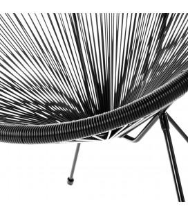 Fauteuil Acapulco Noir - Structure Pieds Dévissables