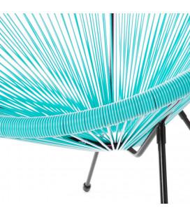 Fauteuil Acapulco Turquoise - Structure Pieds Dévissables