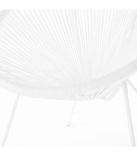 Fauteuil Acapulco Blanc - Structure Pieds Dévissables