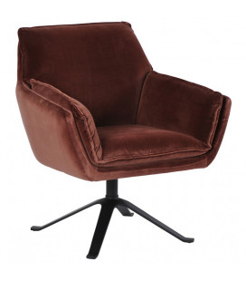 Fauteuil Coventry Lie de Vin Athezza