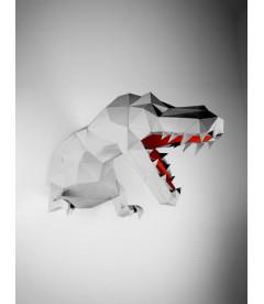 T-Rex Gris et Rouge DIY - Colle Offerte