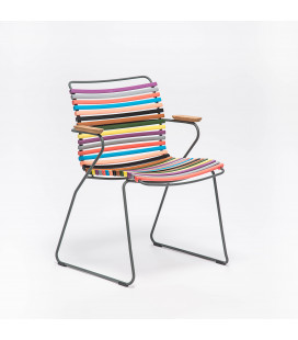 Chaise Accoudoirs Bambou Click Sun