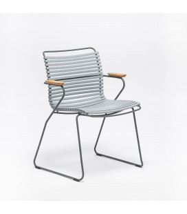 Chaise Accoudoirs Bambou Click Gris Clair
