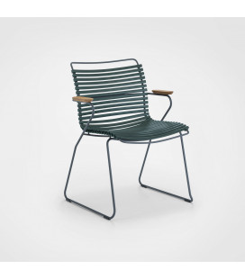 Chaise Accoudoirs Bambou Click Vert Pin