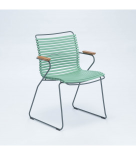 Chaise Accoudoirs Bambou Click Vert