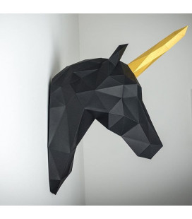 Licorne Noir et Or DIY - Colle Offerte