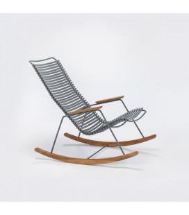 Rocking Chair Click Outdoor Gris Foncé