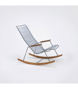 Rocking Chair Click Outdoor Gris Clair
