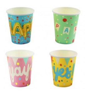 Gobelets Papier Party 8 Pcs