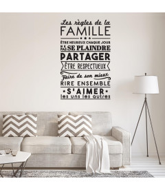Sticker 1Mètre les règles de la Famille