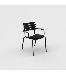 Chaise Reclips Bambou Noir
