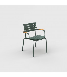 Chaise Reclips Bambou Vert Olive