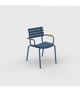 Chaise Reclips Bambou Bleu