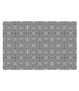 Set De Table Motif 6 Carreaux de Ciment Gris
