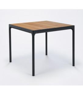 Table Four Noir Bambou 90cm Outdoor