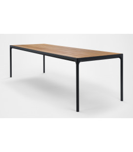 Table Four Noir Bambou 270cm Outdoor