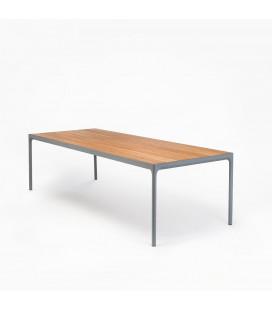 Table Four Gris Bambou 210cm Outdoor