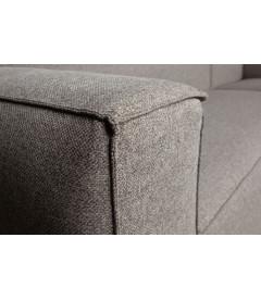 Canapé d'Angle Gauche Bean en Tissu Gris Clair
