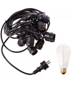 Guirlande Outdoor + 10 Ampoules Edison