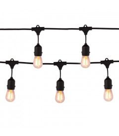 Guirlande Outdoor + 10 Ampoules Edison Rondes
