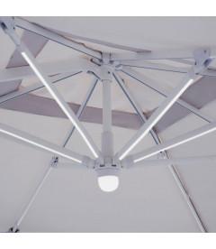 Parasol Excentrique Led Batterie Solaire 3 X 3 M