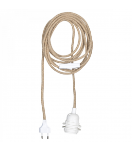 Rallonge Suspension Blanc et Câble en Corde