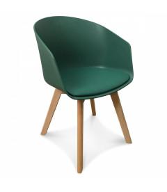 Chaise Scandinave Vert Pin + Coussin