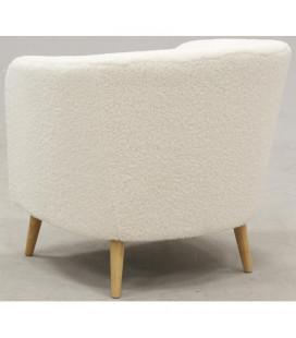 Fauteuil Doudou Imitation Laine Mouton