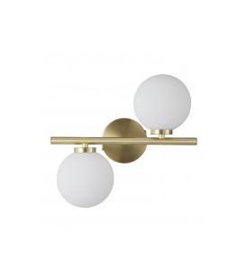 Applique 2 Globes Edmond Dorée