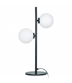 Lampe 2 Globes Edmond Noire
