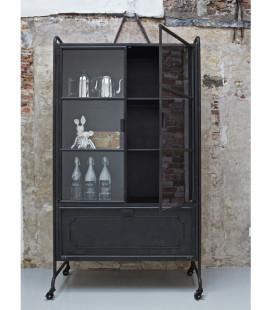 Armoire/Vitrine Steel Storage Métal Noir