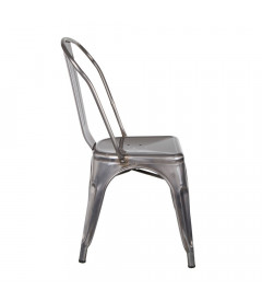Chaise Dallas Patine Argent