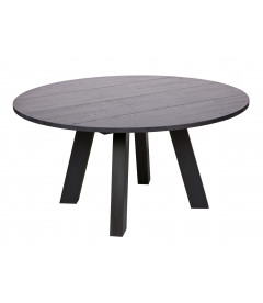 Table à Manger Rhonda Ø150cm en Chêne Noir