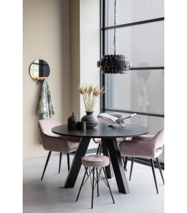 Table à Manger Rhonda Ø130cm en Chêne Noir