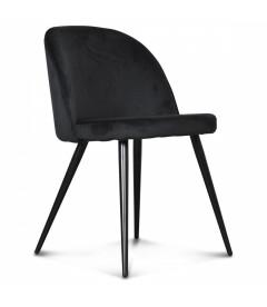 Chaise Ingrid Noire Aubergine Profond (édition limitée)