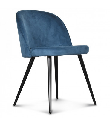 Chaise Ingrid Bleu Canard